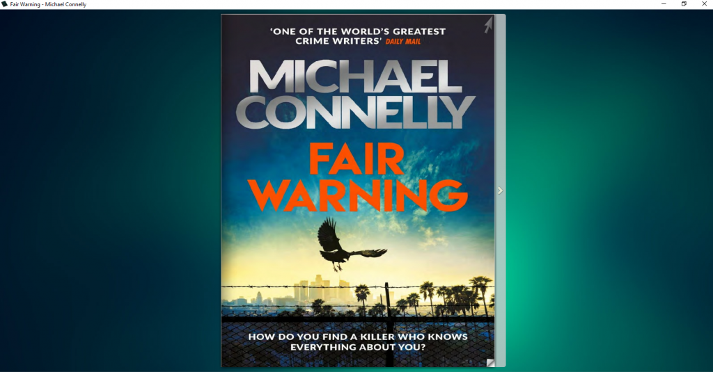 Fair Warning Michael Connelly Book Image 1