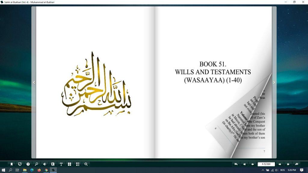 sahih al bukhari pdf free