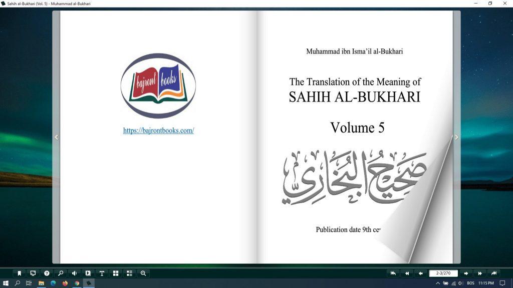 sahih al bukhari all volumes pdf