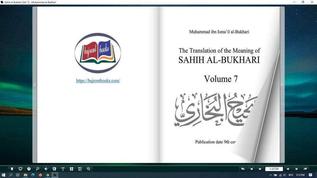 sahih al bukhari pdf download - vol 7