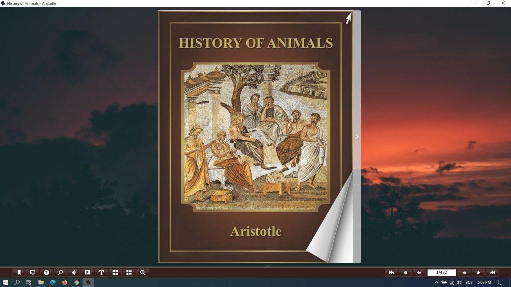 history of animals pdf aristotle