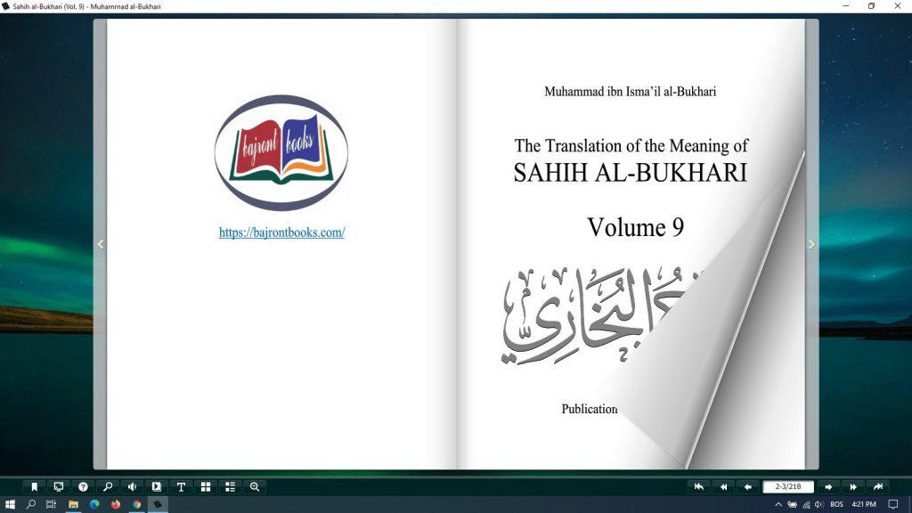 sahih al bukhari pdf free (vol 9)
